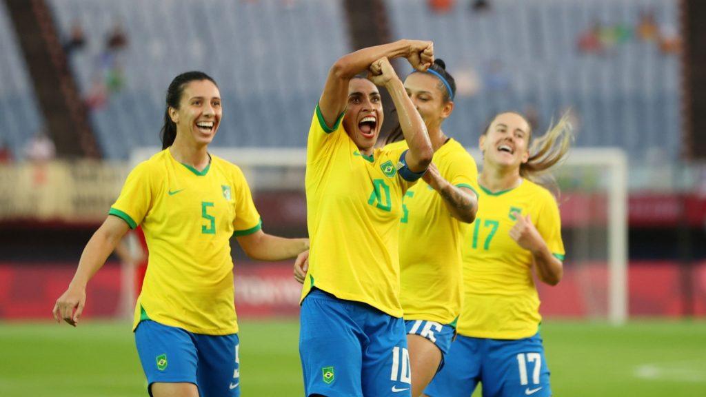 Marta se torna 1ª mulher a marcar em cinco Olimpíadas seguidas