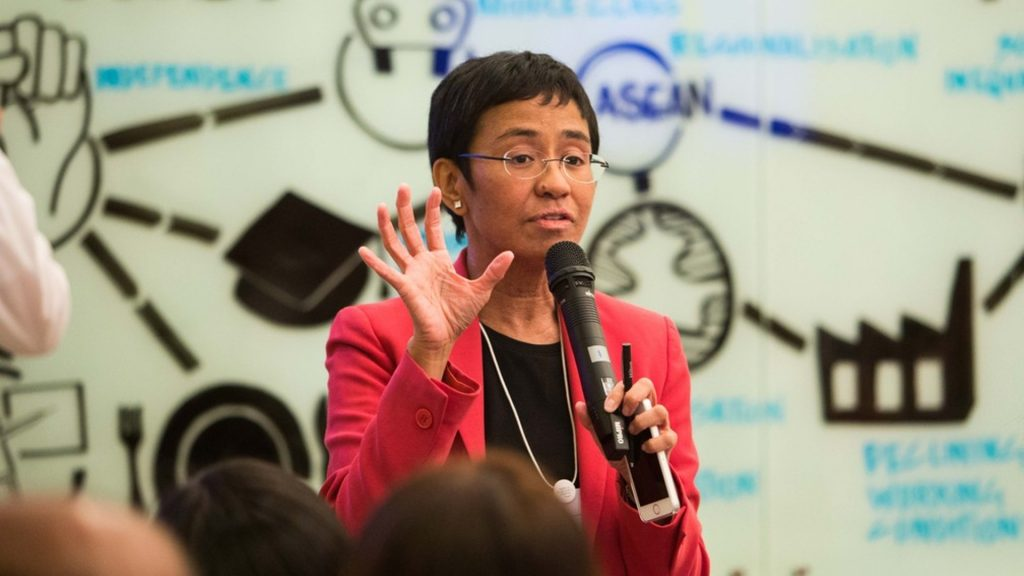 Jornalista Maria Ressa ganha Nobel da Paz